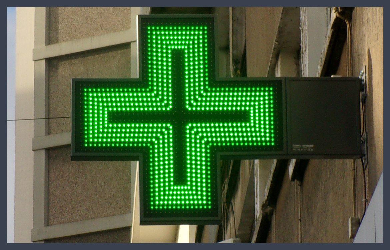 Eclairage led pour mettre en avant sa pharmacie